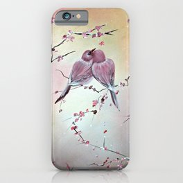 Love Birds and Blossoms, Floral Prints iPhone Case