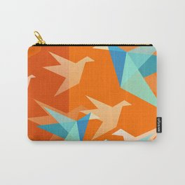 Orange Paper Cranes Carry-All Pouch