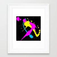splatter Framed Art Prints featuring Splatter by Spooky Dooky