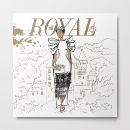 Hanna Royal Metal Print