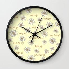 Boho Daisy, Loves Me, Loves Me Not Wall Clock