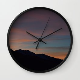 Sunset in the Alps Wall Clock