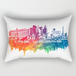 Las Vegas skyline city color Rectangular Pillow