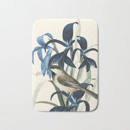 Little Bird and Flowers II Bath Mat