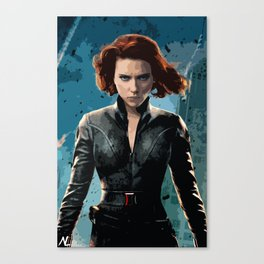 Black Widow Scarlett Johansson Film Illustration Movie Pop Art Home Decor Superhero Comic Book Print Canvas Print