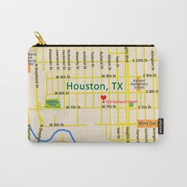 Map of Houston TX #1 Carry-All Pouch