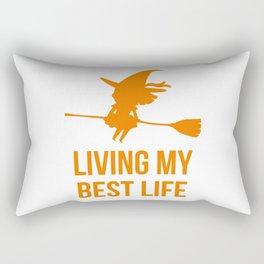 Living My Best Life Motivational Witch Design Rectangular Pillow