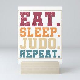 Eat Sleep Judo Repeat Mini Art Print