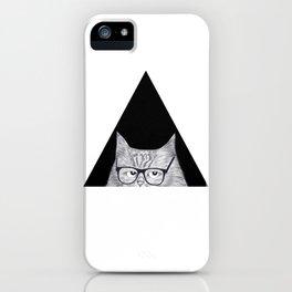 Intelligent cat iPhone Case