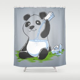 Panda in my FILLings Shower Curtain