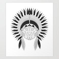 Snapped Up Market - Cowboys & Indians Art Print