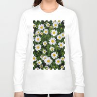 daisies Long Sleeve T-shirts featuring Daisies by Mauricio Togawa