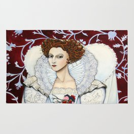 Elizabeth, the Virgin Queen, Queen of Hearts Rug