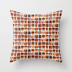 Les Amis Collage Throw Pillow