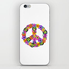 Peace Sign of Flowers iPhone Skin