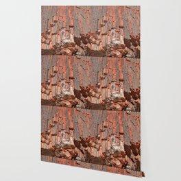 Agathe Log Texture Wallpaper