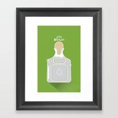 In My Fridge - Tequila Framed Art Print
