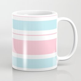 Pink Pastel Frosted Mint Blue Stripes Coffee Mug