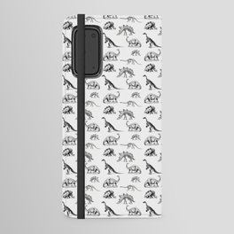 Museum Animals | Dinosaur Skeletons on White Android Wallet Case