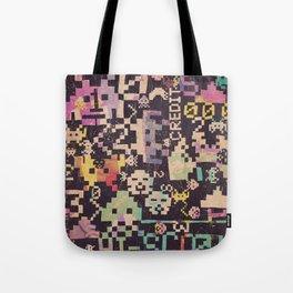 Galactic Pixel War Tote Bag
