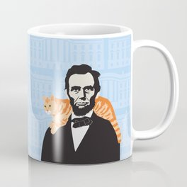 Abe Lincoln the first president to bring a cat to the White House Coffee Mug