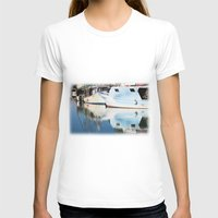 boats T-shirts featuring Fishing boats by Carlo Toffolo