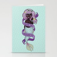patriarchy Stationery Cards featuring ♀ Crush the patriarchy ♀ by ♡ SUSHICORE ♡