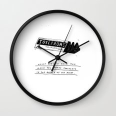 CHOCOLATE DREAMING Wall Clock