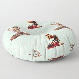 Zombie Pin Ups Floor Pillow