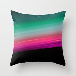 Teal Green Pink Fuchsia Ombre Gradient Throw Pillow
