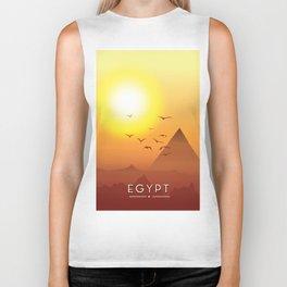 Vintage Egypt travel poster, Biker Tank