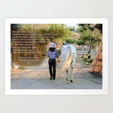 The Cowgirl's Prayer Art Print