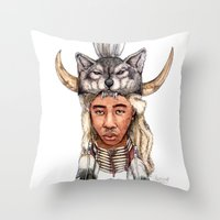 tyler the creator Throw Pillows featuring WOLF / Tyler, The Creator by Daniel Cash