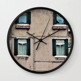 Venetian Windows Wall Clock