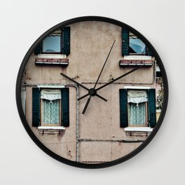 Venetian Windows Wall Clock