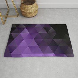 Purple Black Ice Rug