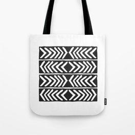 Tribal Print B&W- 04 Tote Bag