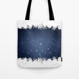 Adorable snowy night Tote Bag