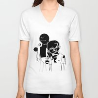 the neighbourhood V-neck T-shirts featuring KIDS AREN´T ALRIGHT by sergio yamasaki