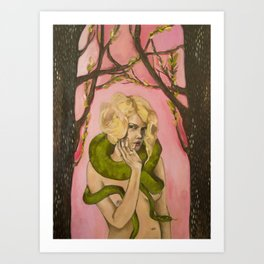 SnakeLady Art Print