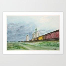 Prairie Train Art Print