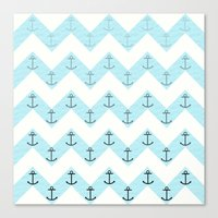 anchors Canvas Prints featuring Anchors by Mercedes