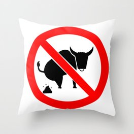 NO BS Throw Pillow
