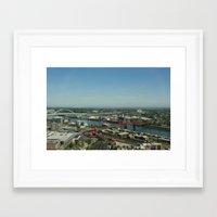 portlandia Framed Art Prints featuring Portlandia by Kailin Ellett