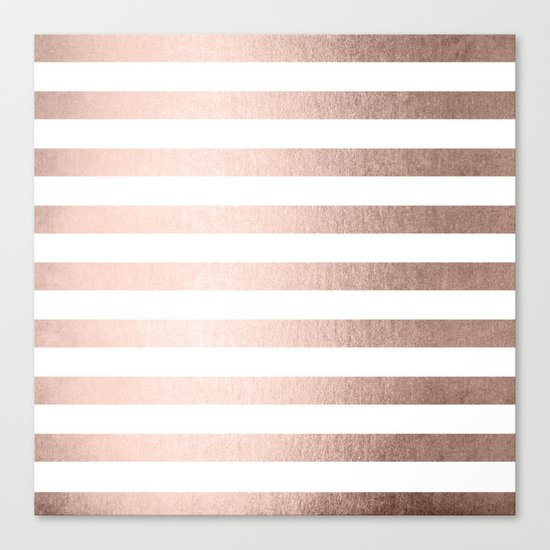 Simply Striped Moon Dust Bronze Canvas Print