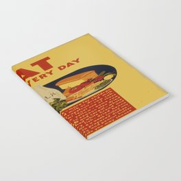 Vintage poster - Eat These Every Day Notebook