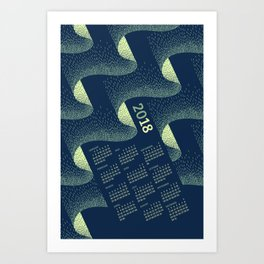 Aurora Calendar 2018 Art Print