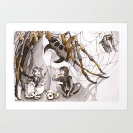 Snack and Spider Art Print