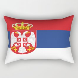 flag of Serbia-balkan,serbian,europe,yugoslavia, Pannonian,Belgrade,Novi Sad,nis,kragujevac Rectangular Pillow