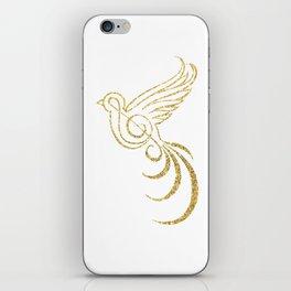 Golden Songbird iPhone Skin